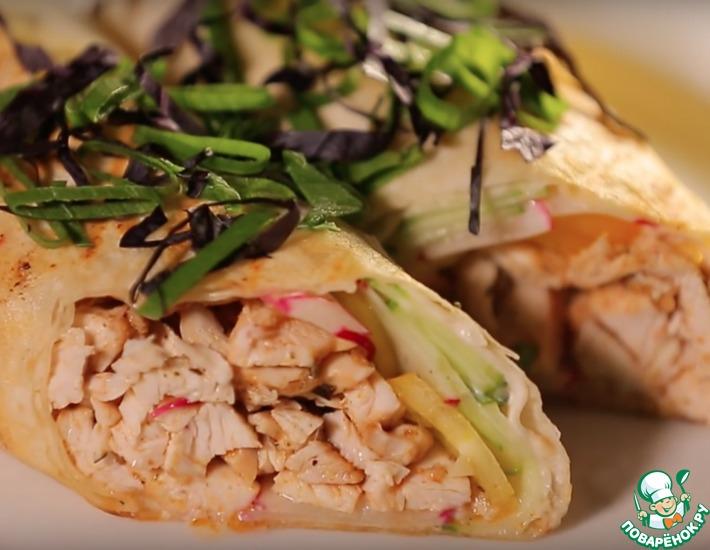 Рецепт: Вкусная шаурма без капусты