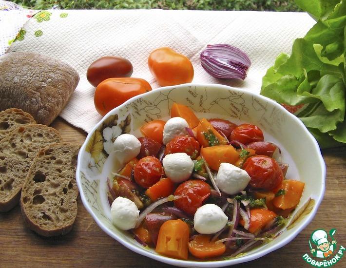 Рецепт: Салат из запеченных помидоров черри