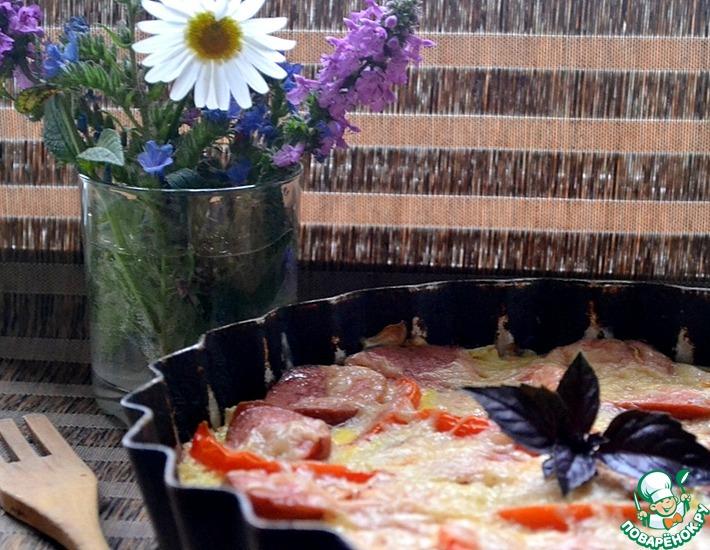 Рецепт: Сочная запеканка из капусты и кабачков