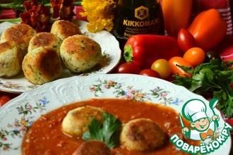 Рецепт: Овощной соус с рыбными фрикадельками