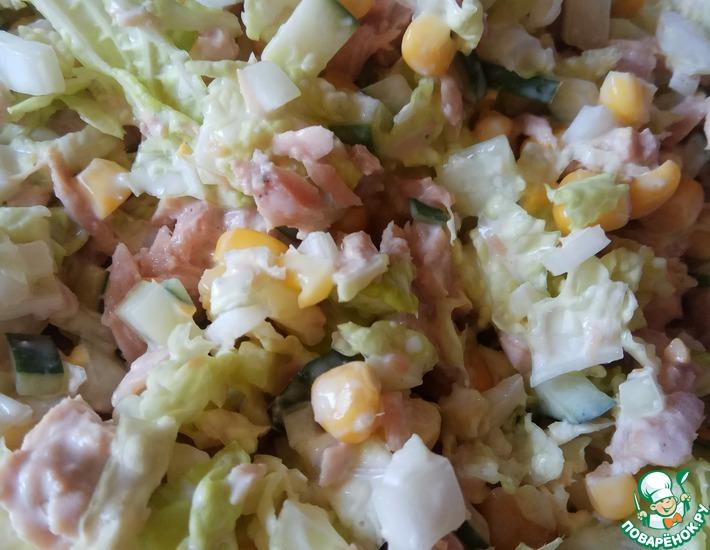 Рецепт: Салат с тунцом Свежо, легко, вкусно