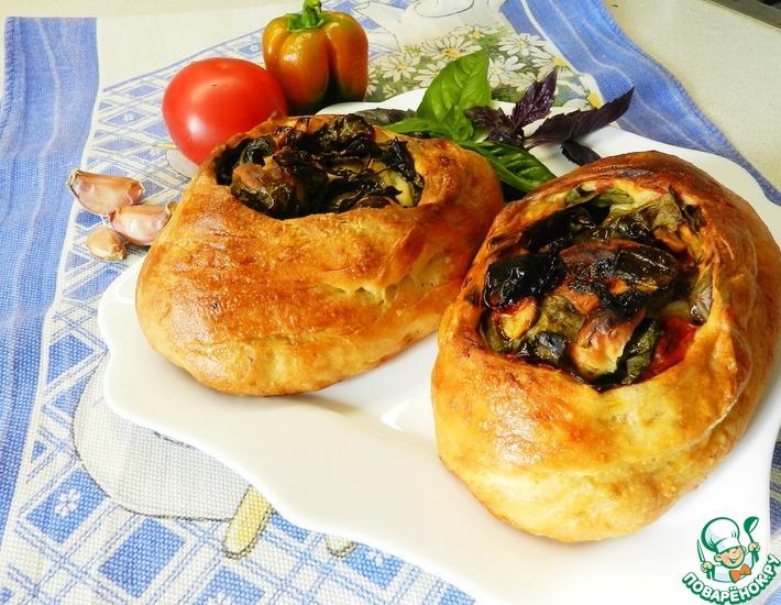 Рецепт: Итальянский хлеб с помидорами и базиликом