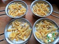 Жульен с салями, гречкой и горошком ингредиенты