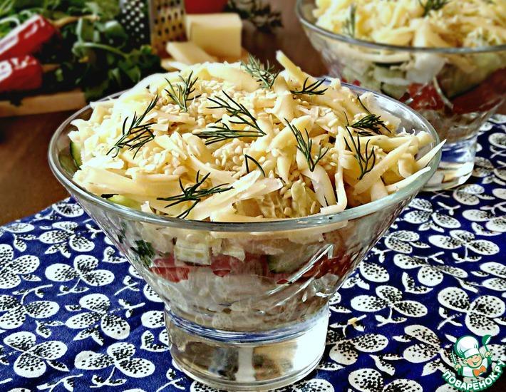 Рецепт: Салат из пекинской капусты с курицей