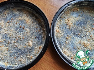Sprinkle with homemade breadcrumbs out of the bread.