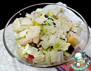 Then lay out the remaining portion of Chinese cabbage with chicken.