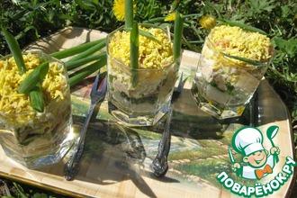 Рецепт: Салат слоеный с рисом