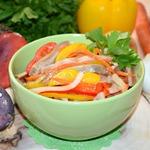 Салат из сыроежек Почти по-корейски