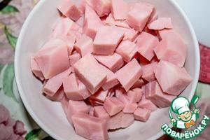 Ham cut into cubes.
