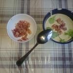 Крем-суп из шампиньонов с беконом