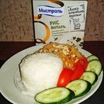 Рис с квашеной капустой и фаршем