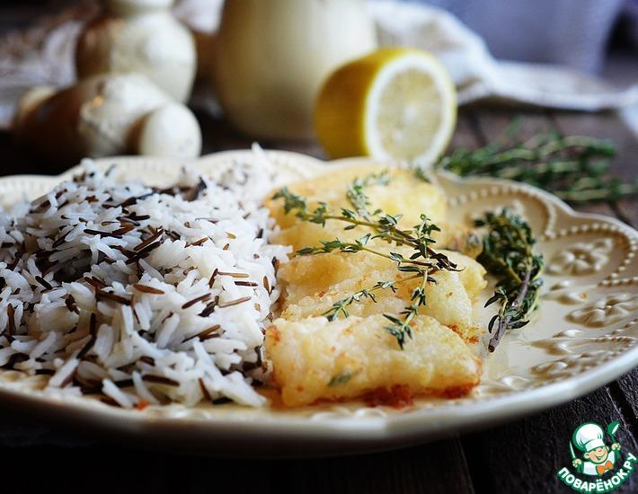 Рецепт: Рис с хрустящей рыбой