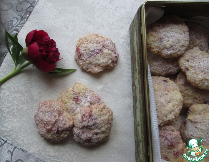 Рецепт: Печенье с яблоками и брусникой