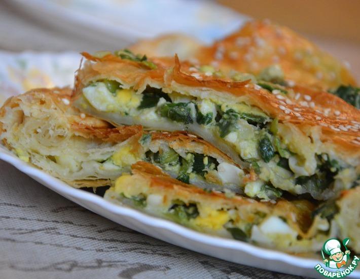 Рецепт: Пирог с луком и яйцом