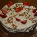 Клубнично-кофейный торт