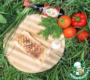 Serve immediately warm the crisp envelope of pita bread with cabbage salad.  Bon appetit!