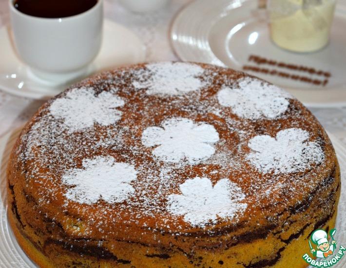Рецепт: Шоколадно-тыквенный пирог Королевский