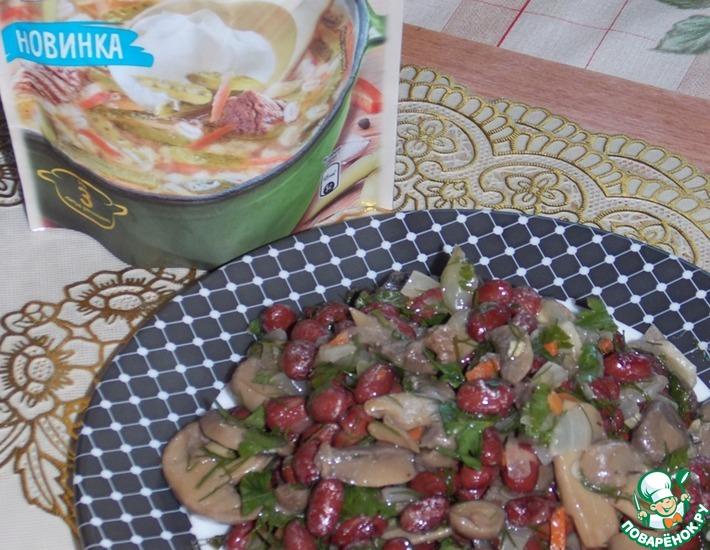 Рецепт: Фасоль с грибами Пикантная