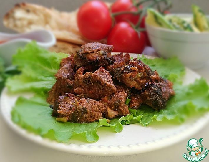 Рецепт: Мясо по-грузински в духовке