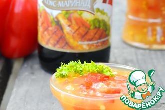 Рецепт: Острый ананасовый соус со сладким перцем
