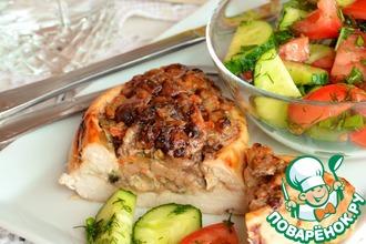 Рецепт: Куриные лодочки с начинкой из печени