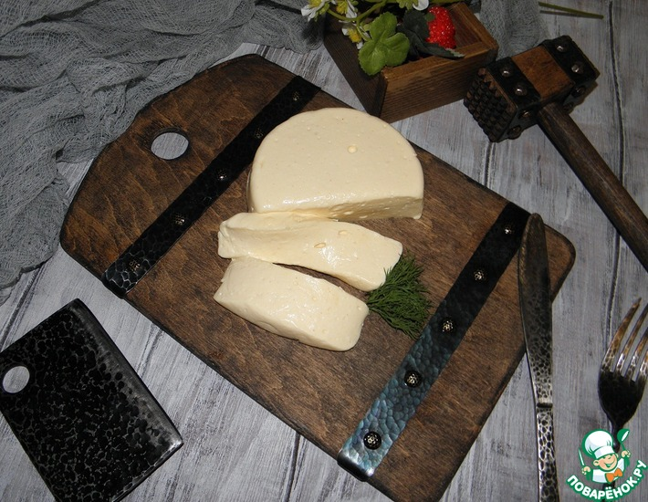 Рецепт: Сыр на твороге из кефира