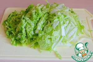 Chinese cabbage and chop sticks