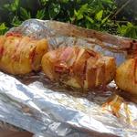 Картофель с грудинкой, запеченный в фольге