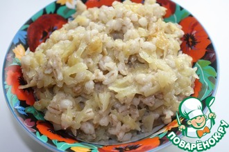 Рецепт: Перловая каша с картофелем
