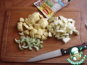 Potatoes, zucchini and celery-followed.