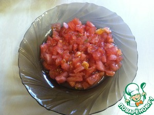 Remove tomatoes skin and cut into small cubes.