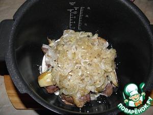 """Добавляем сливки и начинаем готовить. Время приготовления зависит от мощности мультиварки и количества продуктов, если в режиме тушения - от 50 минут до 1,5 часа, главное, довести до готовности картофель.    Можно запечь в духовке, тоже очень вкусно! Только сначала картофель слегка отварить, выложить слои в глубокую форму и запекать при 180*С до состояния """"зарумянится"""", минут 20- 25 приблизительно. Сыр по желанию!"""