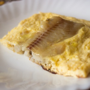 5. Fish in the omelet is ready! Serve it with any side dish of fresh vegetables. Bon appetit!