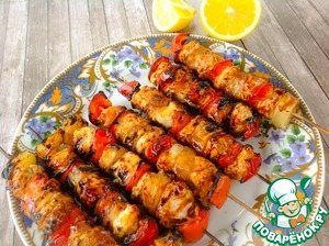 Immediately file. If you want the kebabs to pour freshly squeezed lemon juice. Bon appetit!