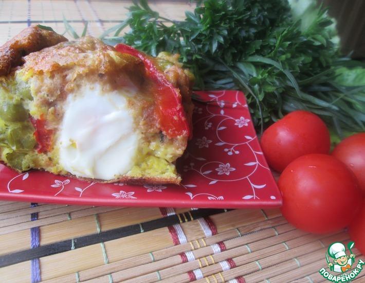 Рецепт: Яичная запеканка с овощами