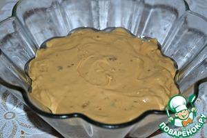 Форму смазать растительным маслом (у меня форма для кекса объемом 1300 мл, верхний диаметр 21 см, нижний-11 см) и вылить в нее тесто. Консистенция теста-густая сметана.    Выпекать кекс в заранее разогретой до 180* духовке 30 минут. (ориентируйтесь на свою духовку).    Готовность проверить деревянной шпажкой.