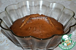 The finished cake to cool in the form for 5-10 minutes.