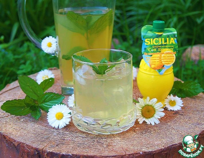 Рецепт: Мятно-ромашковый чай Освежающий