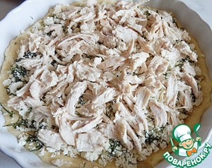 Then the chopped chicken.