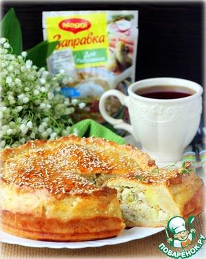 Рецепт: Пирог с начинкой Рассольник