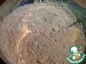 Add 100 g whole wheat flour and 1/2 tsp salt. Mix again.