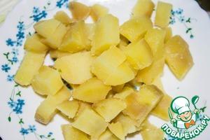 Potatoes cut into cubes.