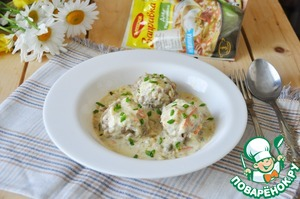 Рецепт: Тефтели под соусом а-ля Тартар
