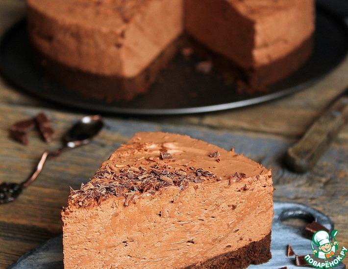 Рецепт: Шоколадный торт-мусс без выпечки