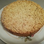 Тёртый пирог с творогом и вареньем