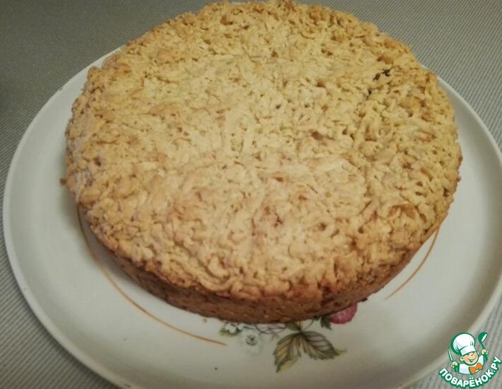 Рецепт: Тёртый пирог с творогом и вареньем