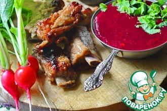 Рецепт: Смородиновый соус с коньяком