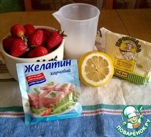 Strawberry marmalade:  6. Prepared ingredients.