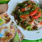 Салат с мангольдом