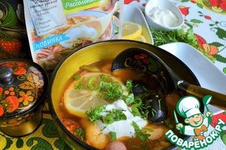 Рецепт: Суп-солянка с цветной капустой